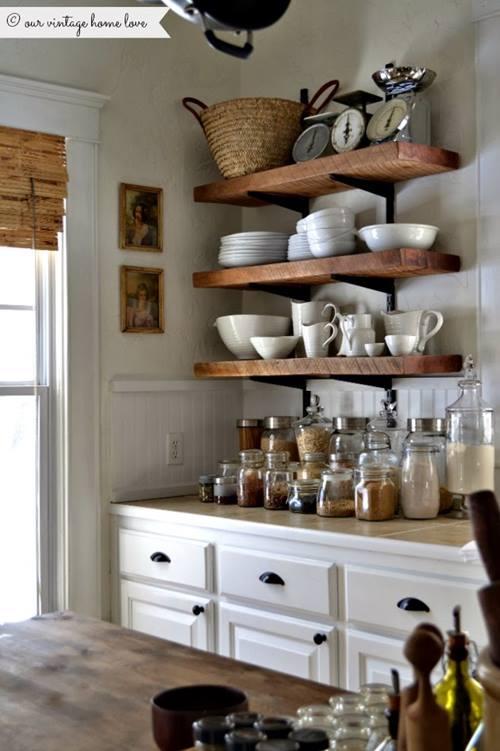 Estanter as de madera baratas para cocinas con encanto for Cocinas completas baratas online