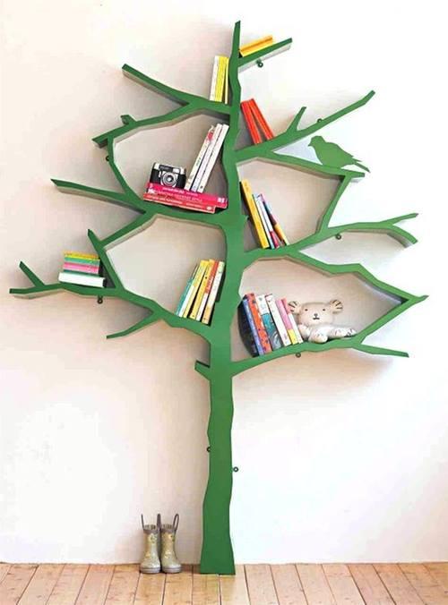 Estanterías originales para libros en forma de árbol 3
