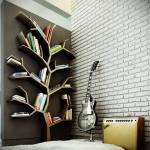 Estanterías originales para libros en forma de árbol