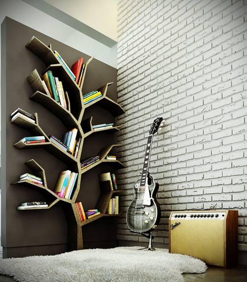 estanteras originales para libros en forma de rbol