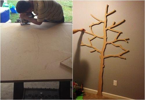 Hacer estanterías de madera en forma de árbol 2