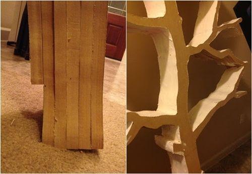 Hacer estanterías de madera en forma de árbol 6