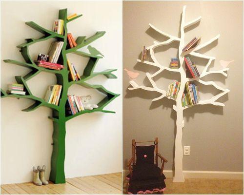 Hacer estanterías de madera en forma de árbol 7