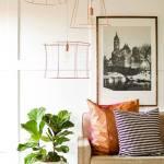 Lámparas de techo 'cool' en tubo de cobre