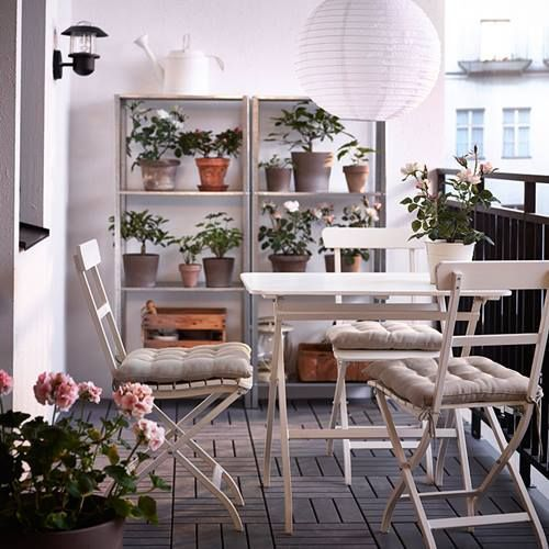 Muebles de terraza para espacios pequeños by Ikea 5