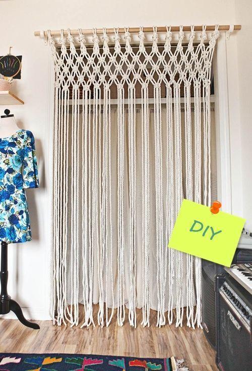 8b48707b7cc4 Cómo hacer cortinas de macramé paso a paso con cuerda de algodón