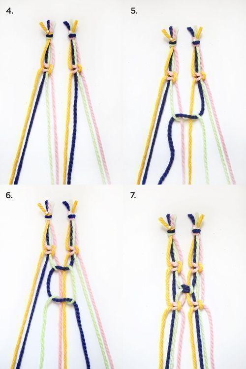 Como hacer cortinas de macrame paso a paso 3