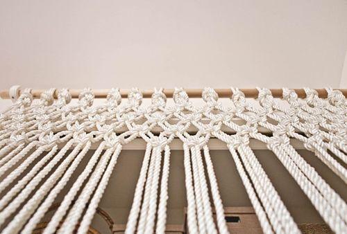 C mo hacer cortinas de macram paso a paso con cuerda de algod n - Como coser cortinas paso a paso ...