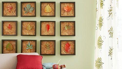 Como hacer cuadros de hojas secas 9