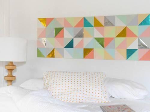 Decoración retro con triángulos Eames multicolor 9