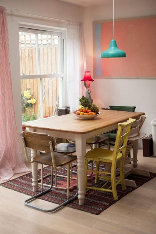 Decoración vintage para una casa que parece de caramelo... 4