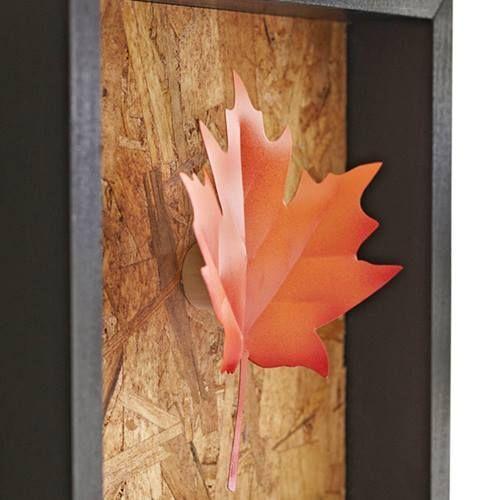 Hacer cuadros decorativos con hojas secas 7