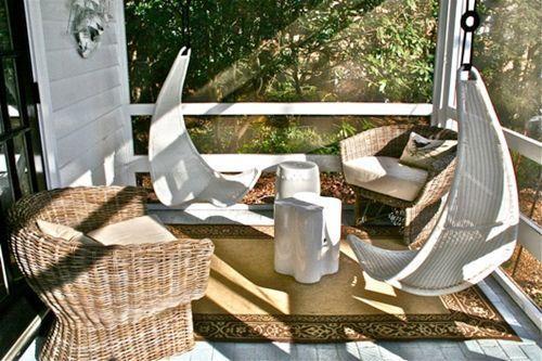 Muebles de jardín con efecto relax hamacas, columpios, mecedoras 8