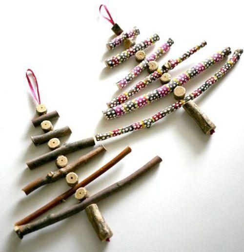 arboles de navidad rusticos para hacer en casa 1