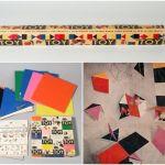 decoracion retro con triangulos eames multicolor 6