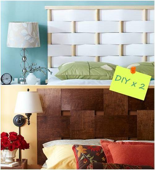 Cabeceros de cama originales para hacer con tiras - Como hacer un cabezal para la cama ...