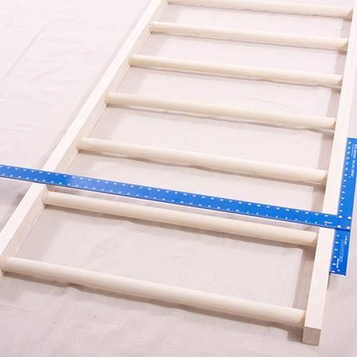 Cabeceros de cama originales para hacer con tiras entrelazadas 3