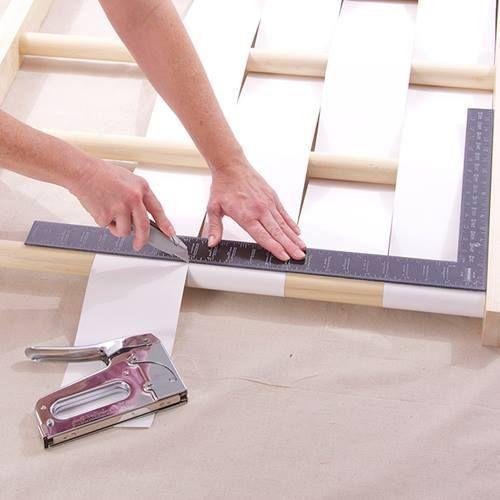 Cabeceros de cama originales para hacer con tiras - Como hacer un cabecero original ...
