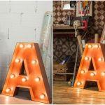 Decoración vintage con rótulos luminosos para la casa  12
