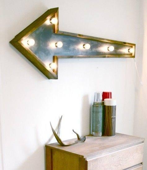 Decoración vintage con rótulos luminosos para la casa 3