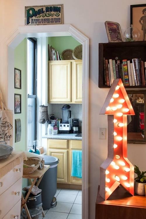 Decoración vintage con rótulos luminosos para la casa  4