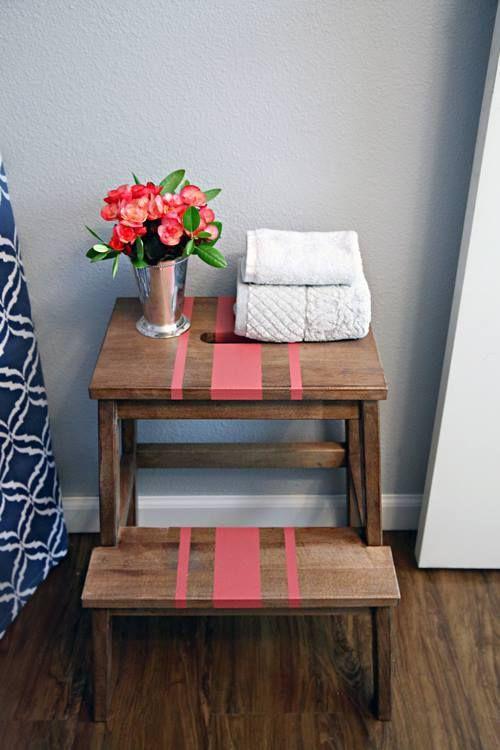 Tunear muebles ikea una escalera de madera con mil y un for Escaleras de madera decoracion ikea