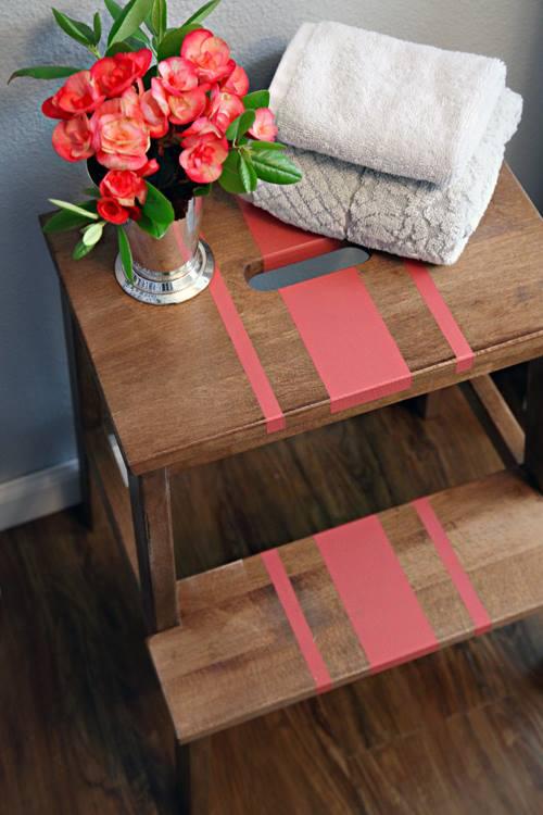Tunear muebles Ikea una escalera de madera con mil y un usos 4