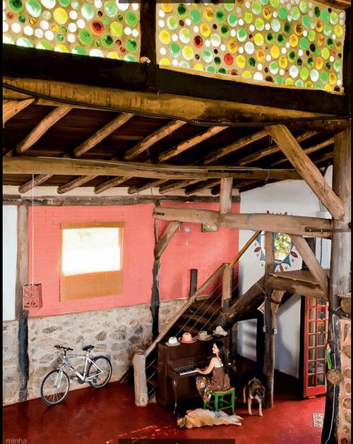 Una decoración reciclada para la más bella casa sostenible... 8
