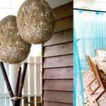 Cómo hacer lámparas de techo con cuerda y globo