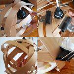 Cómo hacer una lámpara moderna con chapa de madera 10