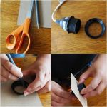 Cómo hacer una lámpara moderna con chapa de madera 9