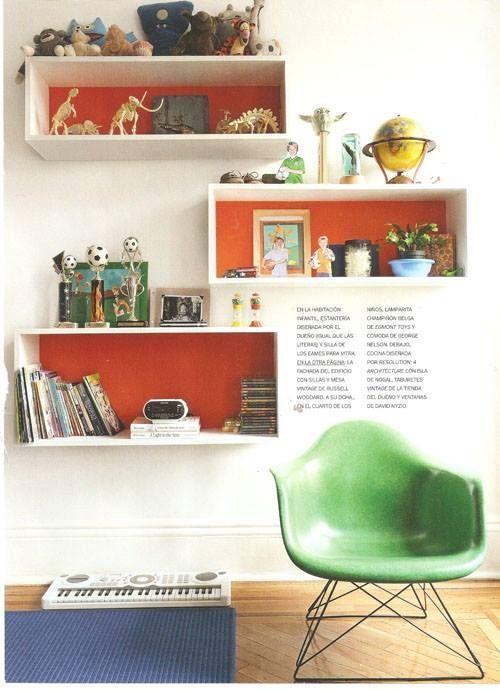 Estanterías decorativas con aire vintage chic 1