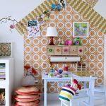 Ideas para decorar con papel pintado vintage