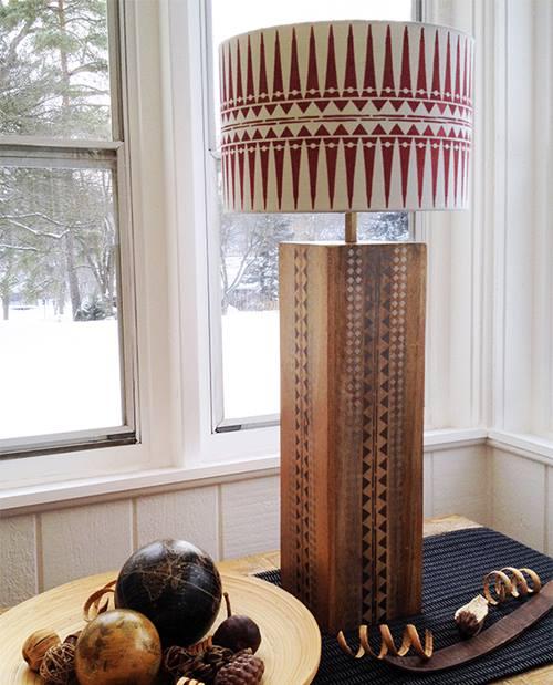 Lámparas de mesa originales con plantillas de stencil de estilo étnico 5