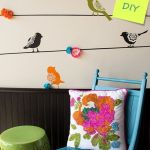 Plantillas para pintar paredes alegres con pájaros 1