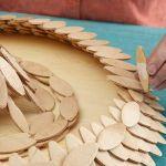 Ideas de decoración orienta flor de madera DIY para chill out 11