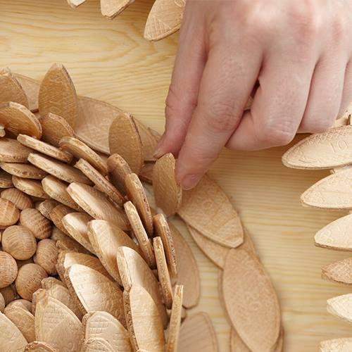 Ideas de decoración oriental flor de madera DIY para chill out 15