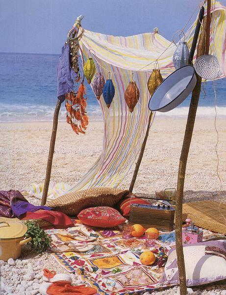 Ideas para decorar un picnic en la playa, el campo, el lago... 3