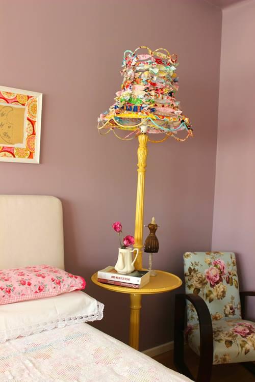 Pantallas de lámparas originales con trapos reciclados 1