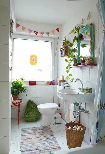 decoracion de cuartos de baño pequeños con ideas vintage 1
