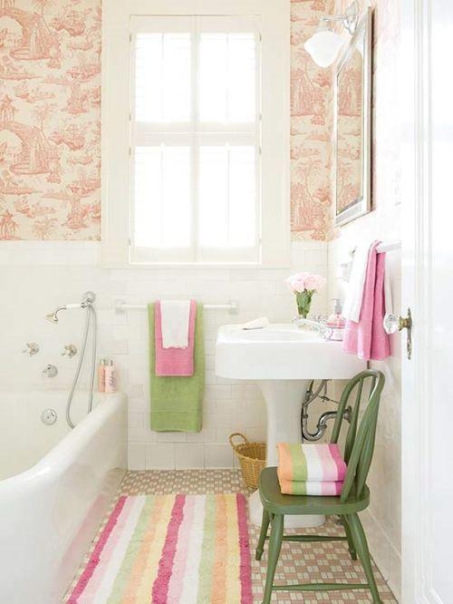 Decoración de cuartos de baño pequeños con ideas vintage - Decomanitas