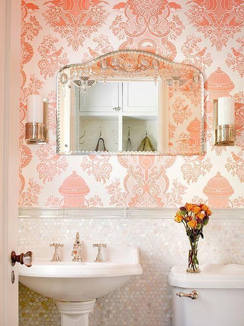 Decoración de cuartos de baño pequeños con ideas vintage 5