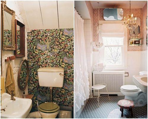 Decoración de cuartos de baño pequeños con ideas vintage 7