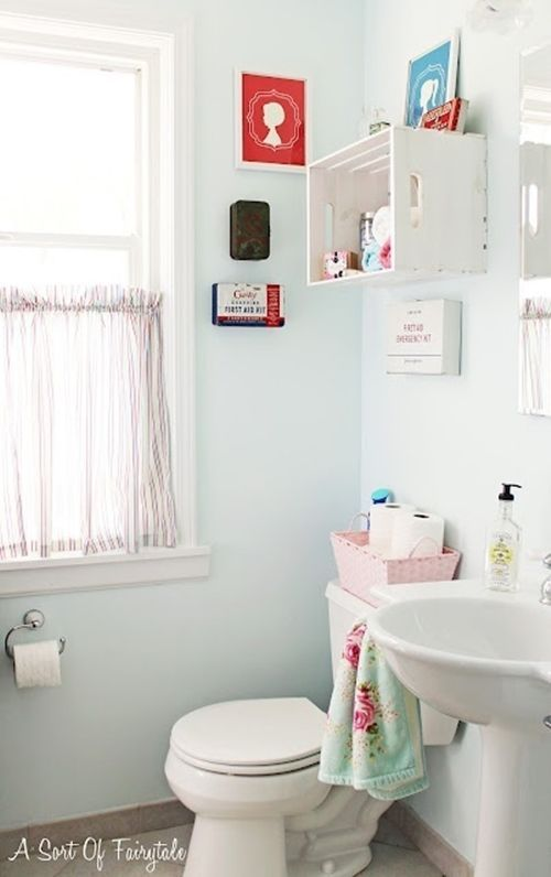 Decoración de cuartos de baño pequeños con ideas vintage 8