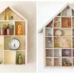 Ideas para decorar con una estantería casita de madera