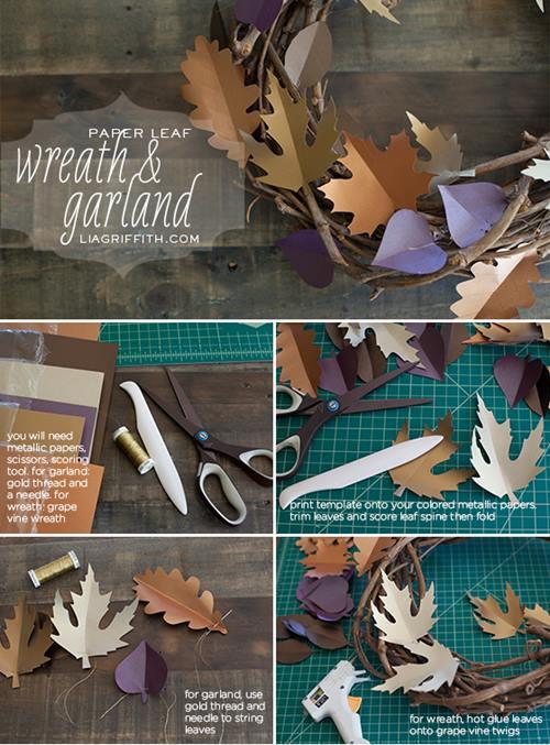 5 manualidades fáciles para decoración de otoño 1c
