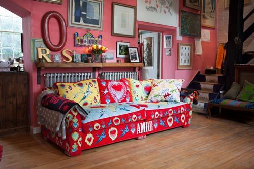 Casas con encanto crazy vintage en esta casa familiar en Dorset 1
