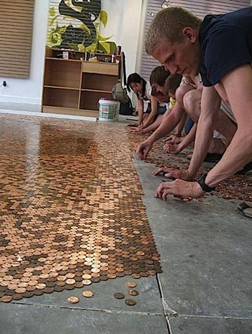 Ideas para decorar reciclando monedas de céntimo 3