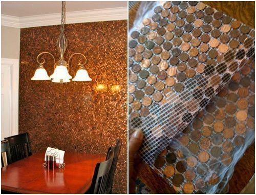 Ideas para decorar reciclando monedas de céntimo 6