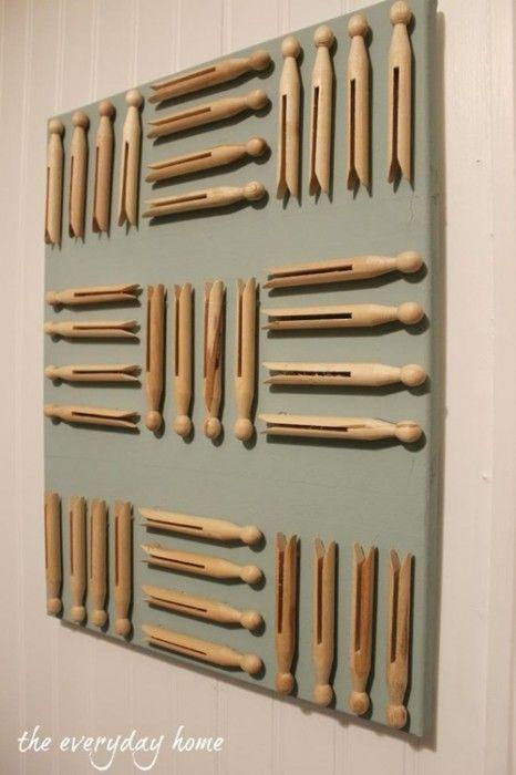 con pinzas de madera para decorar tu casa